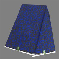 african wax cloth - High class royal blue African veritable wax fabric cotton print super wax cloth for dress WF125 yards pc