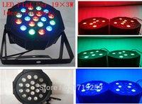 Wholesale Fast Shipping DMX LED Flat Slim Par Light channels x3W RGB Stage
