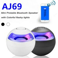 active loudspeakers - AJ Mini Active Bluetooth Stereo Speakers AJ69 mini speaker bluetooth speaker With Micphone LED Light loudspeaker surround sound