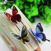 Wholesale 14 Korea Stationery Korean Cute Butterfly Bookmark Exquisite Gift Paper Bookmark Bookmark Animals