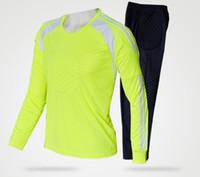 Wholesale Hot adult child doorkeepers pants set goalkeeper hoody suit goalkeeper clothing long sleeve goalie soccer sweatshirts plus size XL