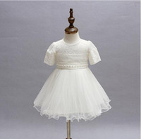 Wholesale New retail Newborn baby girl Baptism Dress Christening Gown kids Girls party Infant Princess wedding summer dresses one piece dress