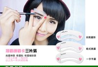 Wholesale Women Magic Eyebrow Stencils Card Template Model For Eyebrow Drawing Guide Thrush Tools Arched