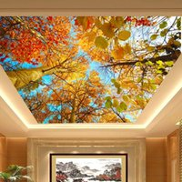 autumn leaf photos - Custom Photo Wallpaper Mural Autumn Leaves Nature Landscape Living Room Bedroom Ceiling Background Wallpaper D Mural Wallpaper