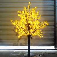 artificial lighted trees - 636 LEDs ft Height LED Maple Tree LED Christmas Tree Light Waterproof VAC RED Yellow Color Outdoor Use