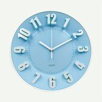 Wholesale Brand Hippih Inches D Numerals Modern Wall Clock Silent Non Ticking Home Decoration Horloge Murale Round Wall Duvar Saati