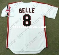 albert free - Deluxe Edition Retro ALBERT BELLE Baseball Jersey Throwback Gray Mens Stitched Jerseys