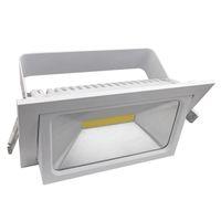 aluminum rectangular - 25W LED Scooplight Rectangular Light Ceiling Mounted Downlight Scoop Light Downlight Adjustable DHL