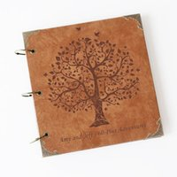 Wholesale Customize Vintage Engraved Photo Album Scrapbook Album wedding guestbook