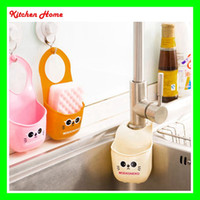 bathroom sink rack - Cartoon Cat Kitchen Bathroom Hanging Holder Bag Snap Sink Kitchen Sponges Drain And Faucets With Storage Rack