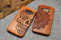bamboo textile wholesale - Natural Wooden Bamboo Phone Case For Samsung Galaxy S4 S5 S6 S7 Edge Note3 Note4 Note5