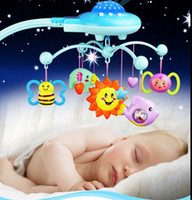 bell mobility mobile - Newborn Baby Toy Baby Rattle Mobility In The Crib Projecting Spin Mobile Musical Bed Bell With Music For Months