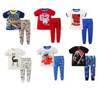 baby boy pjs - New Arrival Cartoon Hero Baby Children s Pajamas Set Cotton Soft Kids Boys Girls Summer Pjs Sleepwear Home Wear