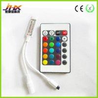 Wholesale 50pcs IR mini keys led rgb controller for SMD3528 led flexible strip rgb lowest price