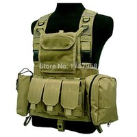 Wholesale FSBE LBV Load Bearing Molle Assault Vest RRV Chest Rig Harness Paintball Combat Molle Vest