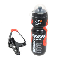Wholesale Essential Portable Outdoor ML Mountain Bike MTB Bicycle Cycling Sports Water Bottle With Plastic Glass Fiber Holder Cage Rack