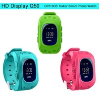 baby gps iphone - Smart baby watch q50 Anti Lost GPS Smart Phone Tracker Wristband Kids SOS GSM Smartwatch have App For iphone IOS Android Watch