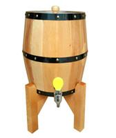 beer faucets - 3L Beer Barrel Wine Barrel Bar Hotel sets Nature Wooden barrel Decoration Stainless steel liner Bucket Iron faucet