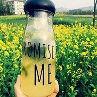 Cheap 4 Color Promise Me Lemon Water Bottle Portable 750ml Plastic Fruit Juice Cup Transparent Korea Style Sports Outdoor Lemon Bottles PPA431