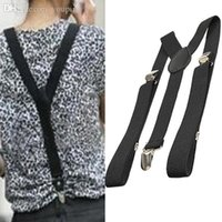 Wholesale BS S Brand new fashion black Y Back Neon Clip on Elastic Brace Suspender