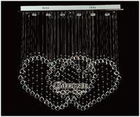 art deco curtain - Rectangle Crystal Chandelier Light Fixture Crystal Love Curtain Lamp Love Shape GU10 Lights included