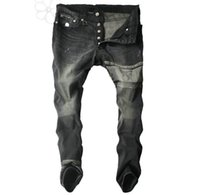 Wholesale 2016 Denim Pants Men Brand Cool Vintage Jeans Hip Hop Beggar Hole Designer Pants Trousers Plus Size Men s Jeans