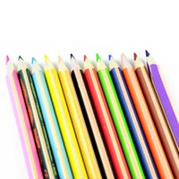 Wholesale 12 set rainbow colored pencil drawing color pencils for high concentrations drawing pens sationery material escolar school supplies
