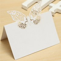 april baby names - New utterfly Laser Cut Place Hollow Out Name Table Card Baby Shower Wedding Favors Birthday Party Decoration