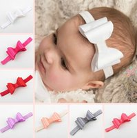 adorable hair - Glitter Diamond Bowknot Princess Baby Bride Kids Adorable Photo Hair Bands Handmade Children Hair Accessories Headbands Band Satin bow