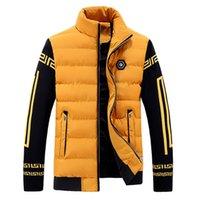Wholesale Fall Latest Winter Jacket Men New Men s Cotton Blend Coats Zipper Mens Jacket Casual Thick Outwear For Men Clothing Male parka