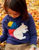 big blue computer - Brand Europe Cute Cartoon Squirrel Sweaters Pullover Lovely Children Clothes Girl Long Sleeve Sweater Big Girls Knit Sweater Tops Coat A5582