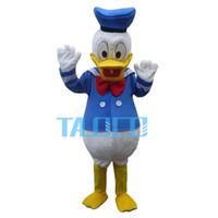 Gros-New Donald Duck Mascot Costume Cartoon Fancy Party Dress Livraison gratuite Adult