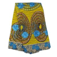 ankara fabrics - Cherry Lady Cotton Guipure Lace African Ankara Fabric with stones African Wax Lace Fabric for Wedding Party Yellow Colour