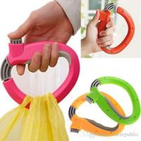 Wholesale 200pc Carry food machine Ergonomic shopping good helper plastic Weight capacity kg shopping bag Hooks