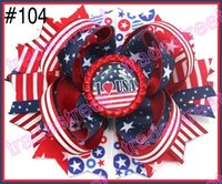 Wholesale Newest th of july hair bows girl hair bows hair accessories