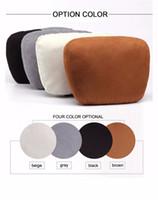 Wholesale Flight Travel Car HeadRest Pillow Auto Seat Head Neck Rest Chamois Leather Pillow Soft Nursing Cushion Pad For Benz S Class