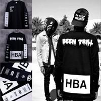 Cheap New 2016 Men's Hood By Air Long Sleeve crewneck Tee Shirts Man HBA Hip Hop t-shirts Been Trill Printed tshirts Men Camisetas Clothing