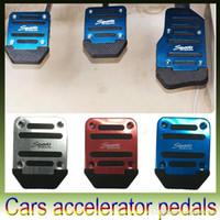 Wholesale Aluminium Alloy Non slip Car Auto Vehicle Accelerator Brake Foot Pedal Cover Pad White Pedal Brake Pedal Accelerator Pedal