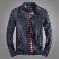 Wholesale Fall Men Brand Motorcycle Leather Jackets Coat Autumn Outerwear Fashion Casual Washed chaqueta cuero hombre