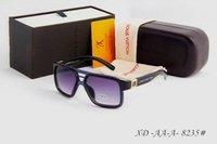 Wholesale Luxury Fashion Men Sport Sunglasses Frame High Quality glasses Brand Design film Lens Classic Sunglasses Male Goggles eyewear box tag