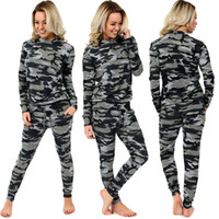 Wholesale 2016 Newest Womens Sexy Tracksuits Two piece Sets Tops Pant Sets Sportswear Fashion Woman Sport Clothing Long Sleeve Casual Tracksuit