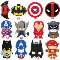 Wholesale 21 Style Marvel s The Avengers Luggage Cartoon Characters Tag Travel Suitcase Tag Luggage Identification Boarding Pass Checked Label XL P107