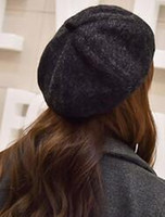 Wholesale New style seaweed winter fashion women cloth beret and free size new pure color restoring ancient ways