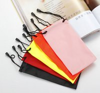 best quality eyeglasses - 2016 Best HOT quality waterproof leather plastic sunglasses pouch soft eyeglasses bag glasses case many colors mixed cm