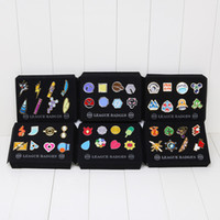 Wholesale 12sets cm Poke Badge Brooch Small pikachu pocket Figures Toy Zinic Alloy Brooch Poke Action Figures Toy