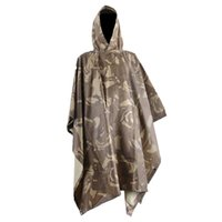 Wholesale Cheap Bionic camouflage waterproof raincoat For Sale Cheap Hunting clothes camouflage poncho scratch Birdwatching Awning raincoat Clearance