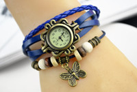 ancient butterfly - Ms retro watch Square bronze butterfly bracelet watch restoring ancient ways The spot for a long time
