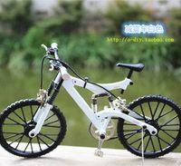 bicycle model kit - DIY Assembled Bicycle Model Craft Kits Damping Mountain Alloy knife wheel road Bike Toy Gift decoration