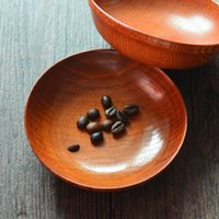 Wholesale Japanese Tableware Dishes Dessert dish Round wooden dish Salad dish Gifts bowl