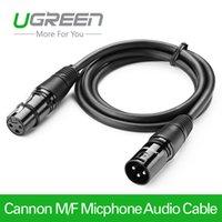 Ugreen Cannon Male to Female Cable de extensión de micrófono para mezclador Amplificador de cámara estéreo Aux Caboo